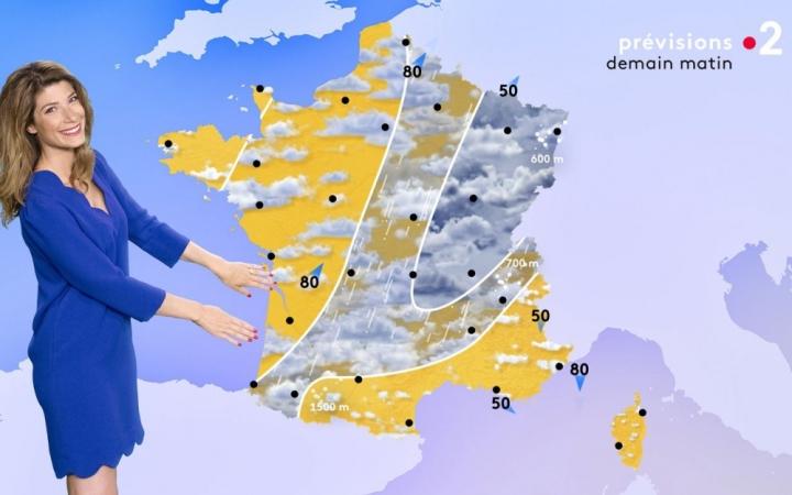 Miss météo présente la carte